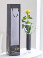Single Yellow Rose Vase