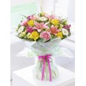 Happy Birthday Spring Radiance Hand-tied