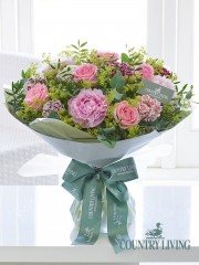 Country Living Delicate Rose and Peony Hand-tied
