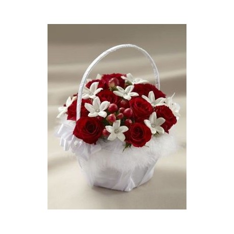 Love and Purity Flower Gift Basket