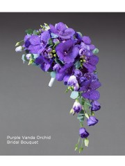 Purple Vanda Orchid Bridal Bouquet