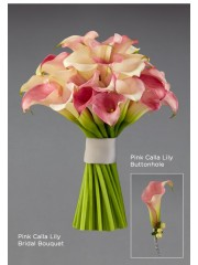 Pink Calla Lily Buttonhole